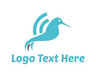 Hummingbird - Colibri Wifi logo design