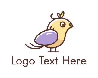 Little - Cute Little Bird logo design