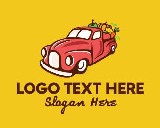 Produce - Fruits & Vegetables Farm Truck logo design