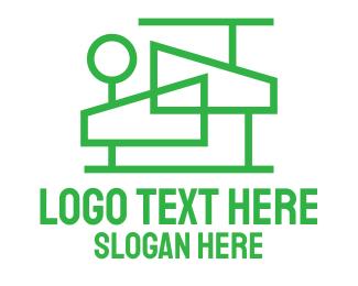 Architect - Modern House Outline logo design
