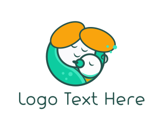 Pacifier - Mother Hug logo design