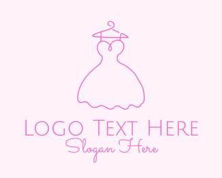 Fashion Designer - Simple Fashion Dress logo design