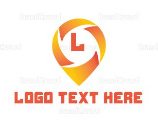 Satellite - Solar Pin Lettermark logo design