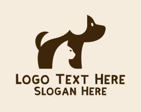 Cute Puppy Kitten  Logo