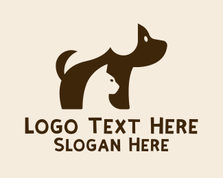 Furry - Cute Puppy Kitten  logo design