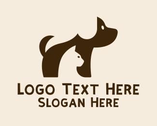 Puppy - Cute Puppy Kitten  logo design