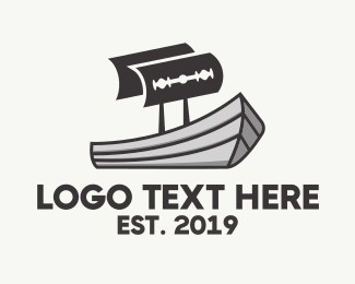 Ship - Maritime Razor logo design