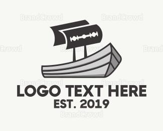 Blade - Maritime Razor logo design