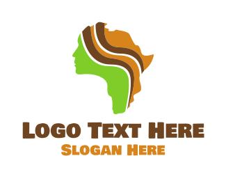 African - African Beauty logo design