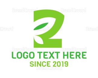Second - Nature Leaf Number 2 logo design