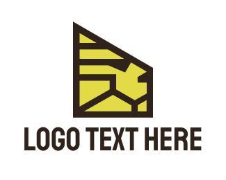 Security - Minimalist Security Lion logo design