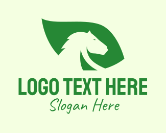 Horse Racing - Horse Leaf logo design