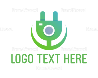 Plug - Electric Flower logo design