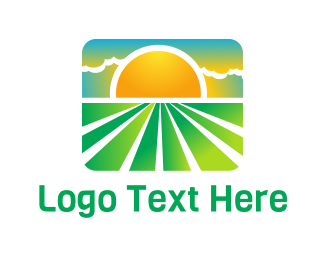 Field - Sunny Eco Field  logo design