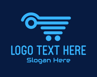 Tech Store - Digital Shopping Cart logo design
