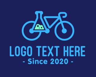 Science Experiment - Modern Science Bike logo design