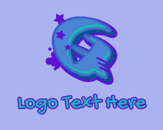 Record Producer - Graffiti Star Letter Q logo design