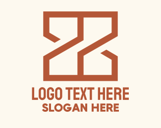 Construction - Orange Geometric Letter X logo design