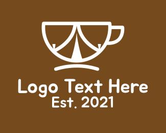 Carafe - Coffee Cup Tent logo design