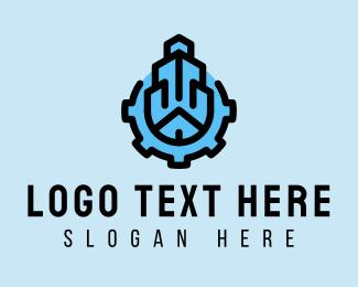 Rental - Building Construction Gear logo design