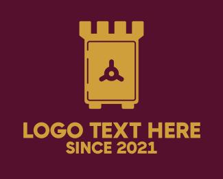 Cash - Safe Tower logo design