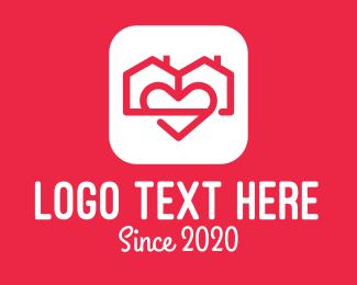 Duplex - Duplex House Love App logo design