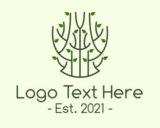 Twig - Minimalist Green Plant logo design
