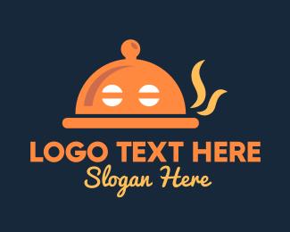 Droid - Robot Droid Food Tray logo design