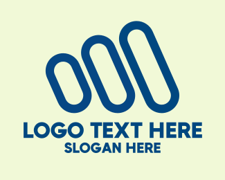 Three - Blue Three Stripes logo design