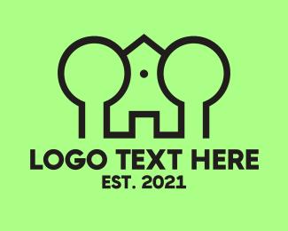 Kingdom - Green Tree House logo design