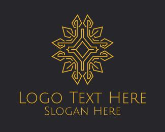 Collage - Golden Religious Relic Monoline logo design
