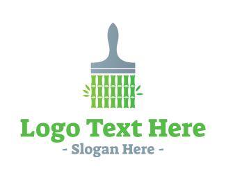 House Painter - Bamboo Paint logo design
