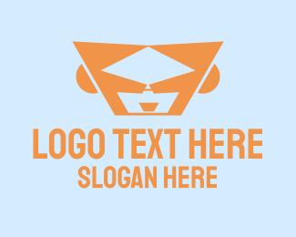 Hacker - Cool Face logo design