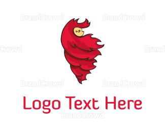 Hair - Red Hair logo design