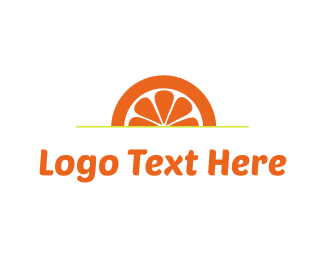 Slice - Orange Sunset logo design