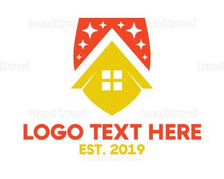 Agricultural - Orange Yellow Corn House logo design