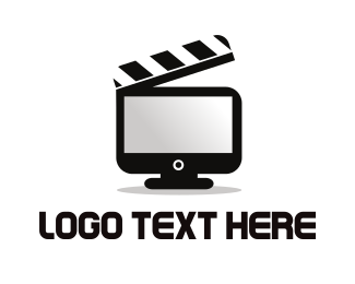 Screen - Movie Clapboard Screen logo design