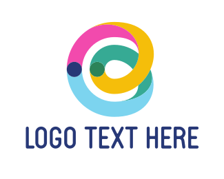 Tube - Colorful B Ribbon logo design