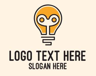 Answers - Automated Bulb Idea logo design