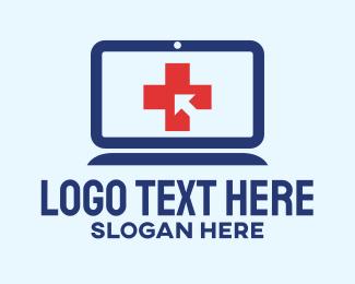 Online Learning - Online Medical Consultation logo design