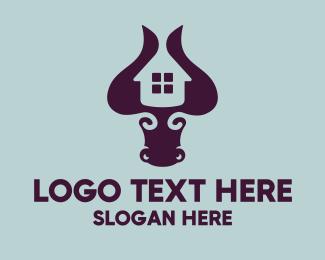 Property Developer - Bull Housing logo design