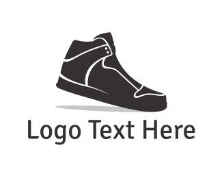 Shoe - Black Sneaker  logo design