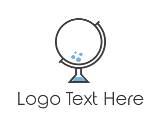 Atlas - Bubble Globe logo design