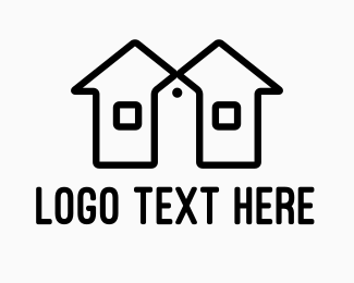 Price Tag - Twin House Price Tag logo design