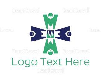 Aid - Medical Team logo design