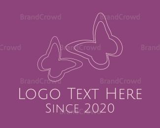 Cosmetic - Pink Butterflies logo design