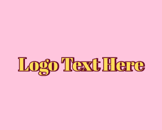 Text - Classic Yellow Text logo design