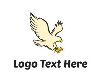 Predator - Eagle catch logo design