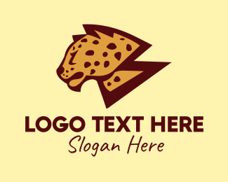 Jungle Animal - Wild Cheetah Safari  logo design