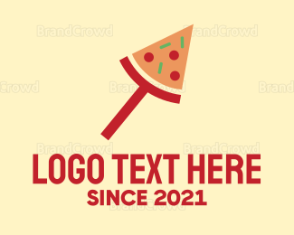 Italian Food - Modern Pizza Slice logo design